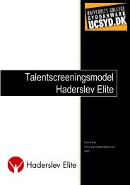 Talentscreeningsmodel Haderslev Elite - UC Viden