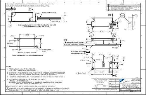 Interface Drawings - MicroE Systems