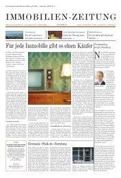 IMMOBILIEN-ZEITUNG - Walde & Partner Immobilien