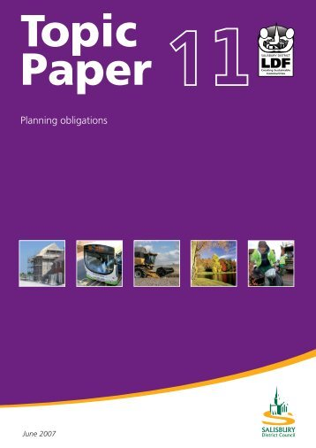 Topic Paper 11 – Planning Obligations - Wiltshire Council