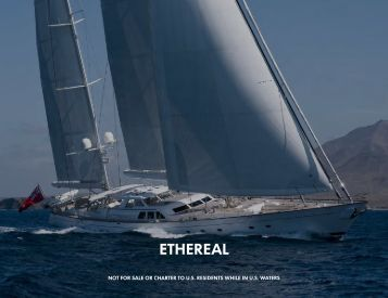 S/Y Ethereal - Paradise Yacht Charters