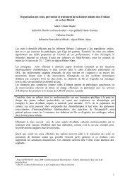 1 Organisation des soins, prévention et traitement de la ... - CNRD