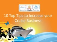 10 Top Tips to Increase your Cruise Business