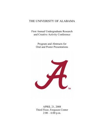 THE UNIVERISTY OF ALABAMA - Graduate School - The University ...