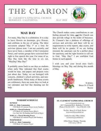 MAY DAY - St. Clement's Episcopal Church