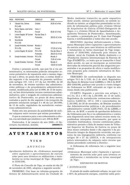AYUNTAMIENTOS - Concello de Vigo