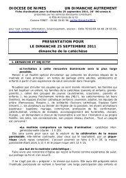 UN DIMANCHE AUTREMENT 25 septembre 2011