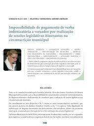 Impossibilidade de pagamento de verba ... - Revista do TCE