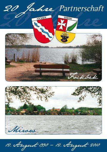 20 Jahre Partnerschaft - Amt Fockbek