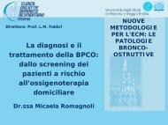 La diagnosi e il trattamento della BPCO dallo screening dei pazienti ...