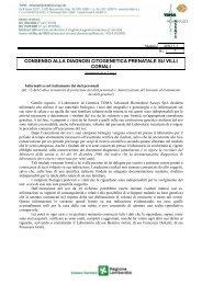 Modulo consenso informato cariotipo su villi coriali - TOMA ...