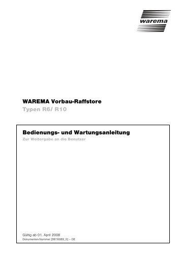 Vorbau-Raffstore Typ R 6/10 - Warema