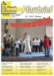 Pfarrbrief Wendelstein 2008 - Pfarrei St. Nikolaus in Wendelstein