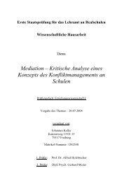 Mediation - Kritische Analyse eines Konzepts des ...