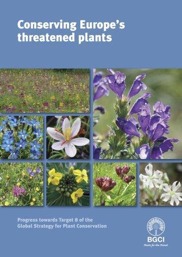 Conservació ex-situ de la flora europea