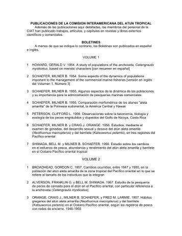 VOLUME 2 - Comisión Interamericana del Atún Tropical
