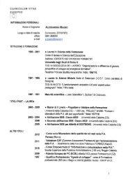 CURRICULUM VITAE EUROPEO - Regione Calabria
