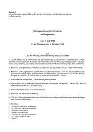Prüfungsordnung für Vorarbeiter im Baugewerbe - BAU-Akademie ...