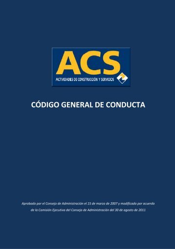 CÓDIGO GENERAL DE CONDUCTA - Clece