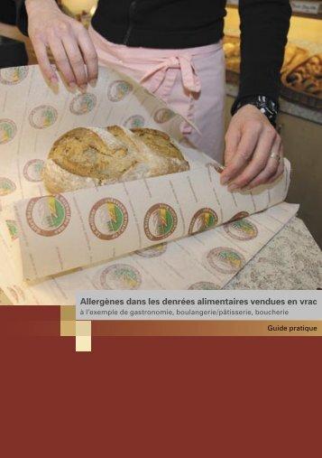 Allergènes dans les denrées alimentaires vendues en vrac