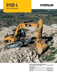 Hydraulikbagger 315D L – Technische Daten