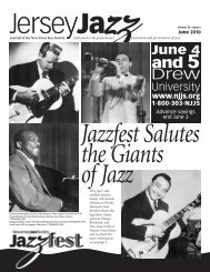 June 4 - New Jersey Jazz Society