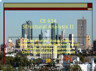 CE 634 Structural Analysis II