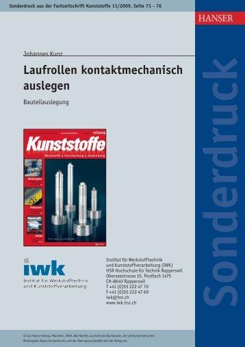 0911 Laufrollen kontaktmechanisch auslegen - IWK - HSR ...