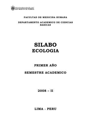 SILABO - Facultad de Medicina Humana