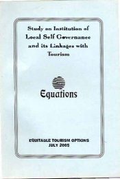 Institution of Local Self Governance and its Linkages with Tourism