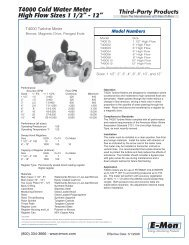 T4000 High-Flow Cold Water Meters - E-Mon