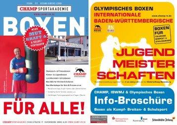 Info-Broschüre - CHAMP-Sportakademie