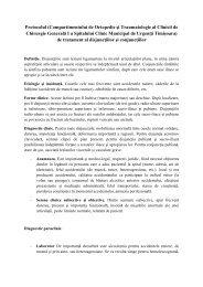 Protocolul disjunctiilor - Spitalul Clinic Municipal de Urgenta Timisoara