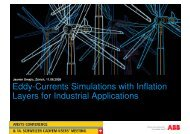 Eddy-Currents Simulations with Inflation Layers for Industrial ...
