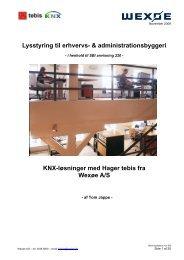 Lysstyring til erhvervs- & administrationsbyggeri - Wexøe.dk