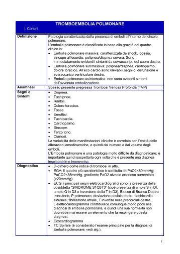 TROMBOEMBOLIA POLMONARE - E-learning