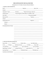 herd nutrition history and evaluation form - University of Wisconsin ...