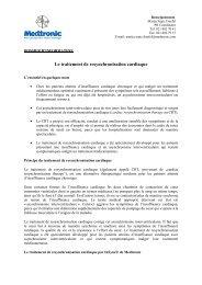 Le traitement de resynchronisation cardiaque: Dossier d ... - Medtronic