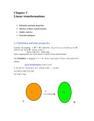 Chapter 3 Linear transformations