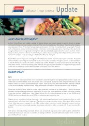 Alliance Group Limited Dear Shareholder/Supplier