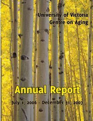 Annual Report - Centre on Aging - University of Victoria