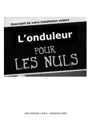 L'onduleur pour les nuls - Site de Jean-François L'haire