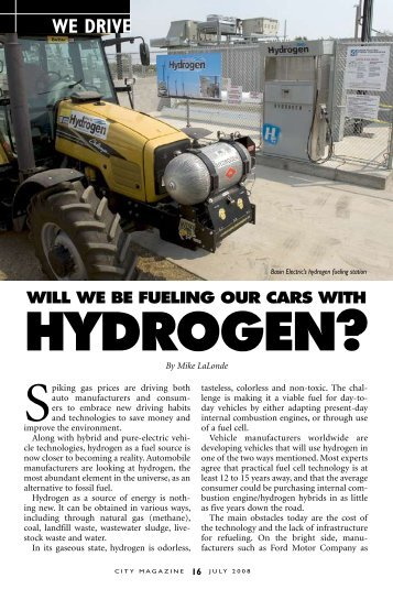 HYDROGEN? - Basin Electric Power Cooperative