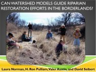 can watershed models guide riparian restoration ... - Sonoran Institute