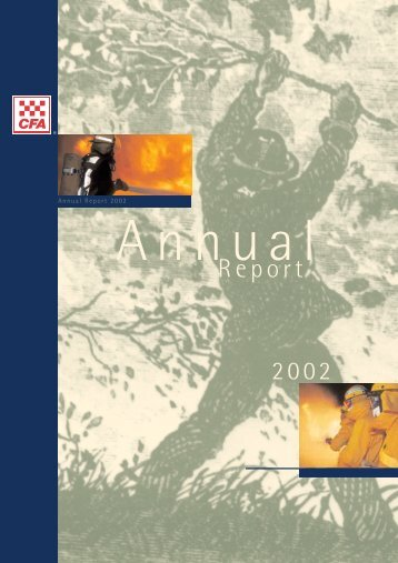 Download CFA Annual Report 2002 (PDF 2000k) - Country Fire ...