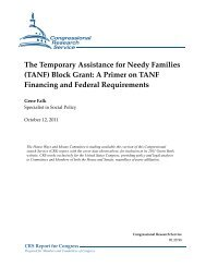 The Temporary Assistance for Needy Families (TANF) Block Grant ...