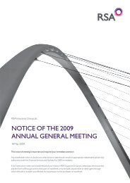 Notice of the 2009 ANNuAl GeNerAl MeetiNG - Royal and Sun ...