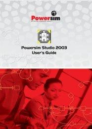 Powersim Studio 2003 Reference Guide