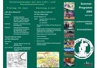 Sommerprogramm der Landwirtschaftlichen Fakultät der Universität ...