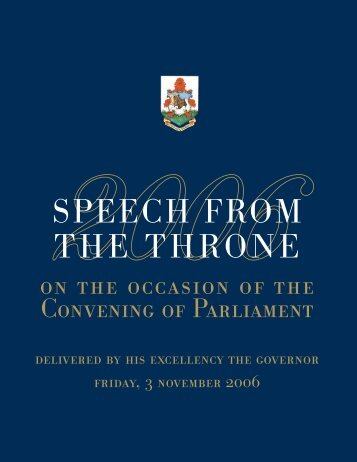2006 Throne Speech - Politics.bm
